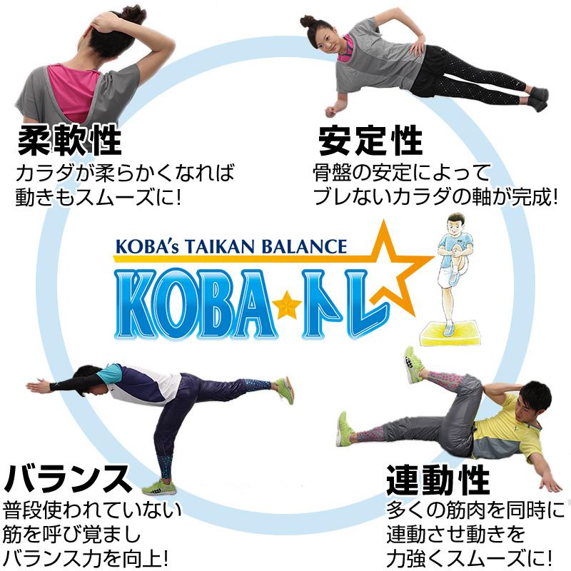 メディカル発想「KOBA式体幹☆バランストレーニング」の特徴